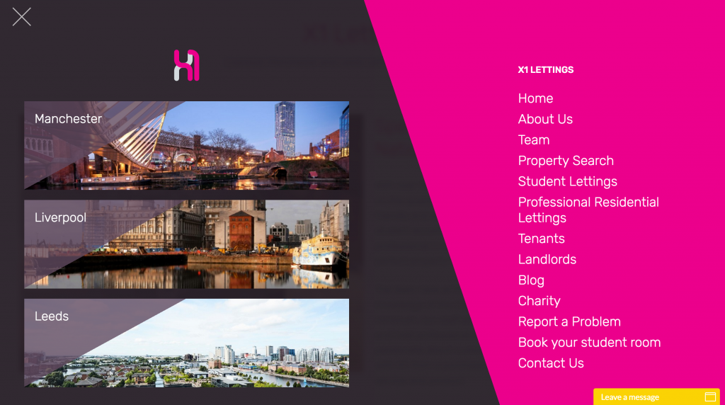 X1 Lettings New Website