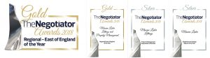 Negotiator Awards prepared by J P Gardner & Associates