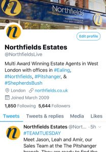 NORTHFIELDS ESTATE AGENTS TWITTER ACCOUNT