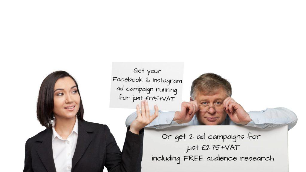 Get your Facebook & Instagram ads for 175+VAT