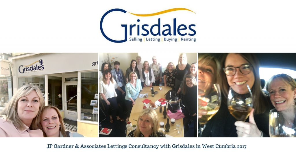 Jane Gardner and Reagan Bradley consulting with the lettings and property management team at Grisdales in West Cumbria