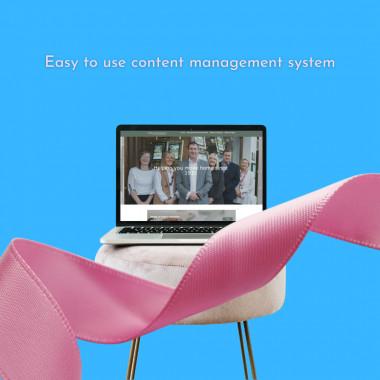 WordPress platform offers easy content management